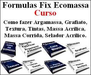 Fórmulas de Tintas e cola bloco, Massa corrida, grafiatos, texturas